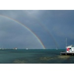 Double Rainbow, Ambergris Caye.  Photo by Joe and Marcia Pugh. All rights reserved.