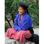 Girl at Tashigang Dzong. Photo by Rick Taylor. Copyright Borderland Tours. All rights reserved.