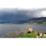 Lochness and Urquhart Castle. Photo by Sam Fentress. Courtesy of Wikimedia Commons. All rights reserved.