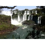 Part of Iguazu Falls from the Waterfall Trail. Photo by Rick Taylor. Copyright Borderland Tours. All rights reserved.