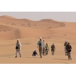 People of Dune at Erg Chebbi. Photo by Rick Taylor. Copyright Borderland Tours. All rights reserved.