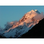 Mt. Cook Sunrise. Photo by David Semler & Marsha Steffen. All rights reserved.