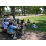 Picnic at Cottonwood Campground. Photo by Rick Taylor. Copyright Borderland Tours. All rights reserved.