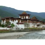 Bhutan Dzong, or Buddhist Temple. Photo by Adam Riley. All rights reserved.