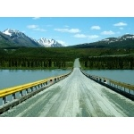 Susitna River Bridge Denali Highway. Photo by Rick Taylor. Copyright Borderland Tours. All rights reserved